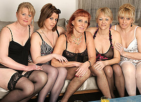 Welcome on every side a hot old and young lesbian party
