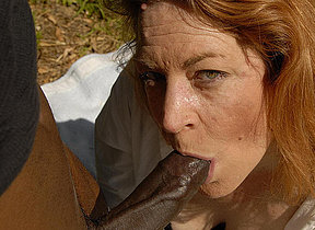 This overheated mama loves to swallow black cock