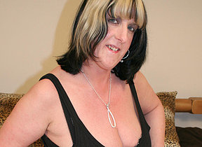 Big titted mature slattern playing with personally