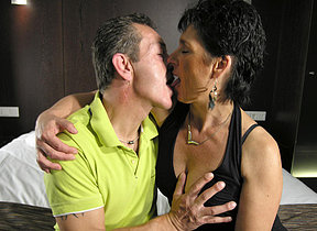 This mature couple love evenly hard and long