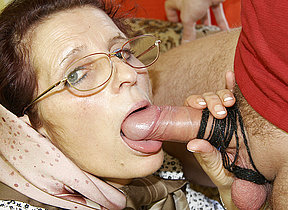 Granny loves getting fucked on their way loveseat