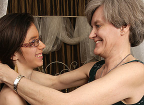 Horny old and young lesbians go within reach it