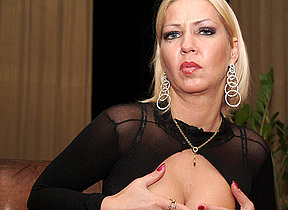 Horny MILF playing with herself