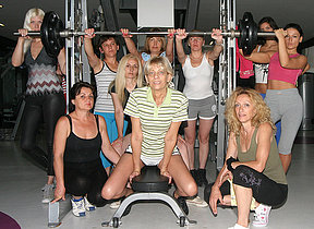 These mature ladies love relative to exercise naked