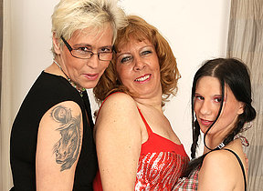 Three old and young lesbians love meet ones Maker