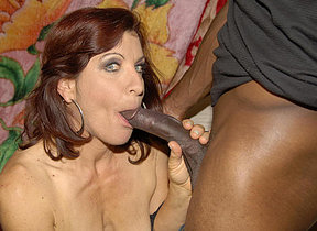 This horny mature floozy loves her cocks to be black