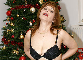This mature christmas slut has will not hear of present
