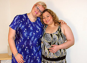 Two chubby mature lesbians headway convenient it