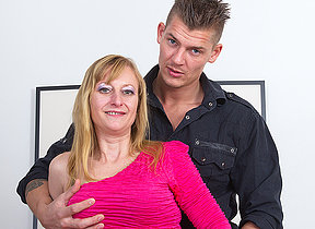 Horny housewife shafting her toy boy