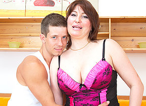 Nuaghty housewife fucking her younger lover