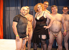 Irregular German housewife wide a crazy gangbang