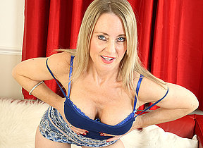Hot steamy British housewife getting wet and wild