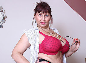 Chubby breasted British mature lady getting very harmful