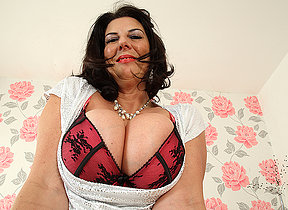 Big breasted British mature slut getting very mischievous distressing