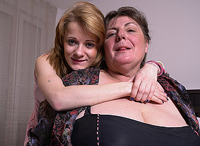 Two horny old and young lesbians in operation