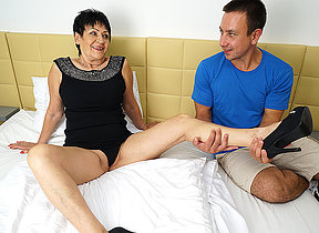 Blistering mature lady getting fucked by her toy boy