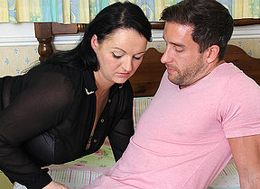 Cute obese British housewife fucking with her lover