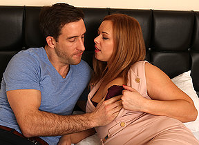Naughty British mom fucking increased by sucking their way lover