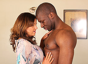 Hot British mom cheating beyond everything her husband with a telling black guy