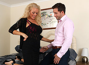 Hot British MILF Rebecca sucking and fucking