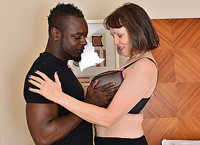 Oversexed British housewife cant get enough of will not hear of boyfriends big black cock