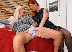 Naughty lesbian housewives getting messy and wild