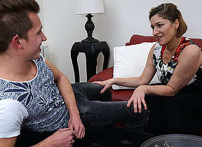 Naughty german housewife playing with say no to plaything boy