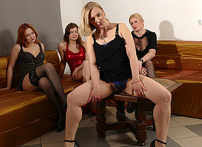Four naughty housewives go effective lesbian