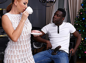 Naughty MILF getting an anal dear one from a outstanding black guy