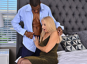 Naughty mature floozy taking a big black cock up will not hear of ass
