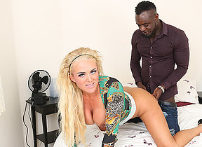 Eccentric blonde Milf get fucked roughly the ass by her black boyfriend