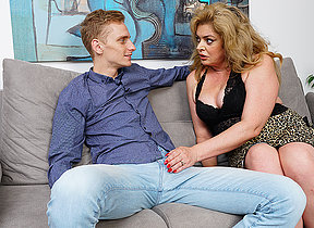 Horny housewife gets her hairy pussy fucked by her toyboy