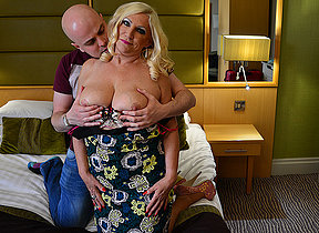 Randy British Milf sucks together with fucks her lover