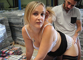 Sexy French Milf is fucked in her pussy and beside her ass
