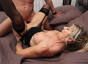 Sexy French Milf Marina Beaulieu sucks a big cock together with gets fucked hard