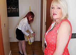 Amy and Beau Diamonds are four hot British lesbian Milfs who go back on each other
